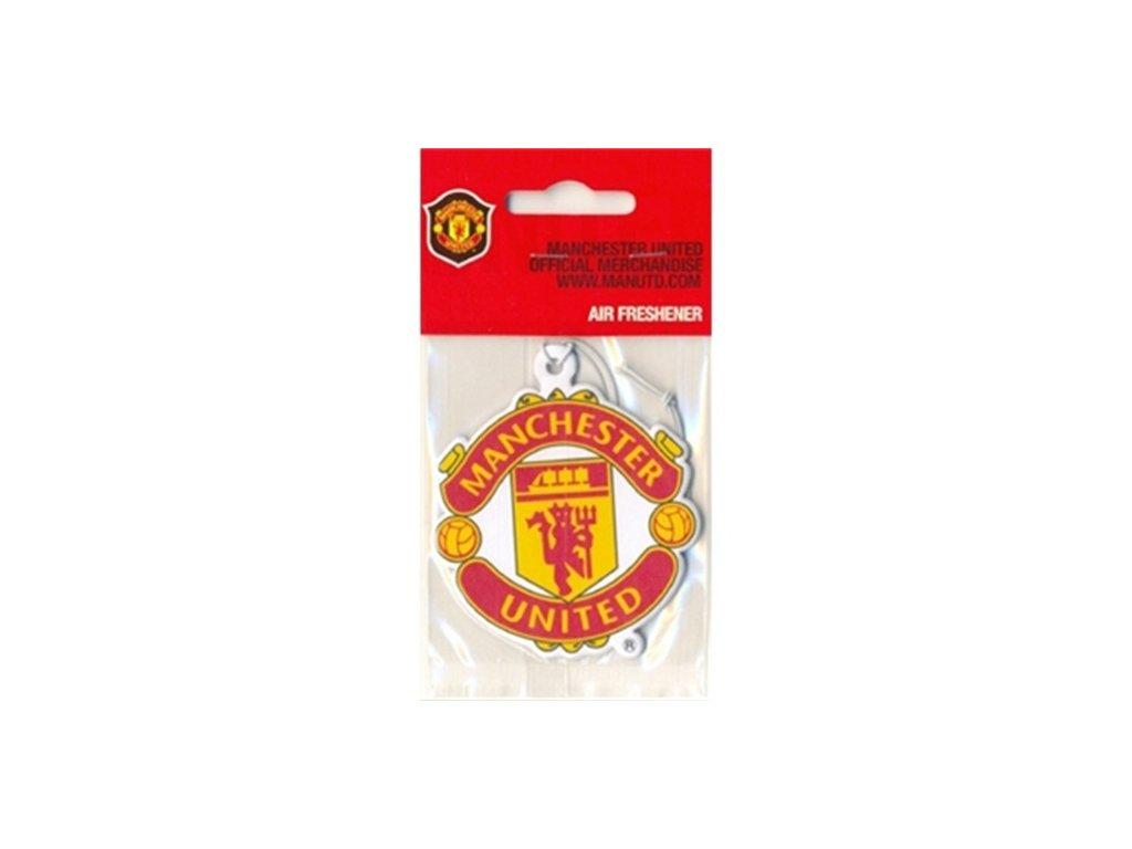 Osvěžovač vzduchu FC Manchester United: Znak z obou stran crest (13 g, 8 x 6 cm) červený