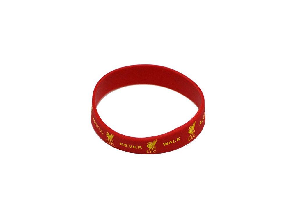 Silikonový náramek: FC Liverpool (průměr 7 cm) červený