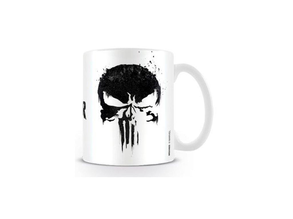 Bílý keramický hrnek Marvel|Punisher: Skull|Lebka (objem 315 ml)