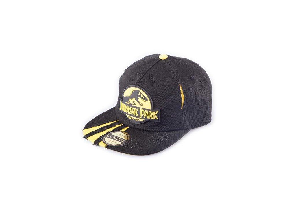 Čepice snapback - kšiltovka Jurský Park: Logo (nastavitelná) černá
