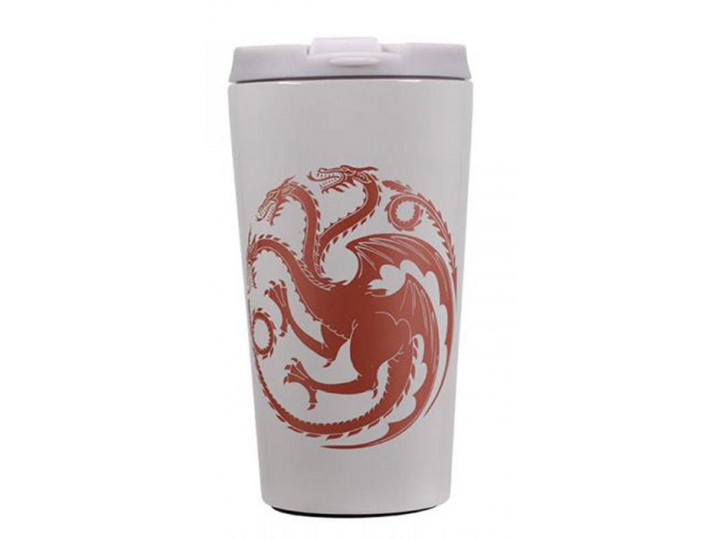Nerezový cestovní hrnek Game Of Thrones: Targaryen's Mother Of Dragons - Matka draků (objem 300 ml)