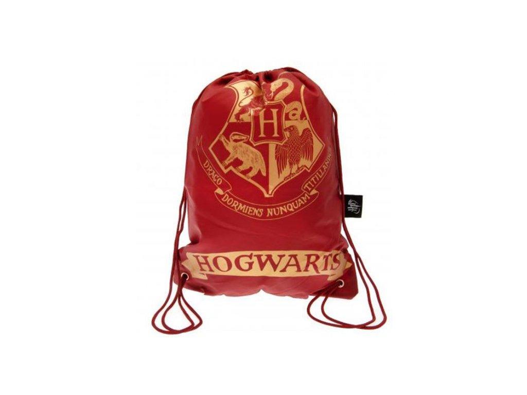 Batoh pytlík gym bag Harry Potter: Hogwarts - Bradavice (23 x 17 x 3 cm) červený polyester