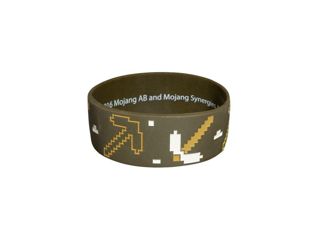 Gumový náramek Minecraft: Miner (šířka 2,5 cm)