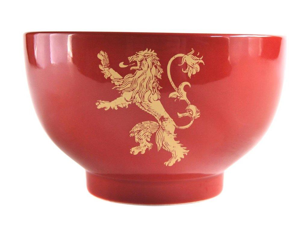 Keramická miska Game Of Thrones Hra o trůny: Lannister (14 x 9 cm objem 500 ml) červená