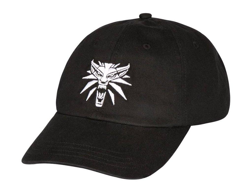 Čepice baseballová kšiltovka The Witcher 3|Zaklínač 3: White Wolf Logo (nastavitelná)