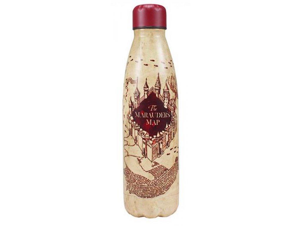 Nerezová láhev na pití Harry Potter: Marauders Map (objem 500 ml)