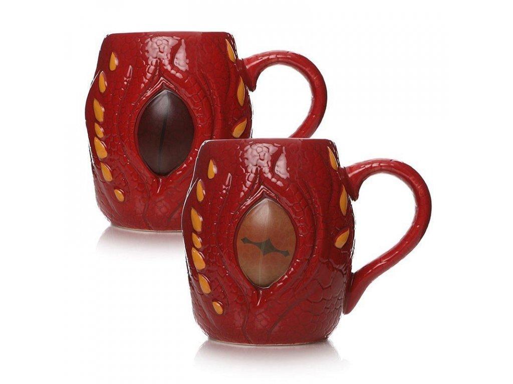 3D keramický hrnek The Hobbit: Drak Šmak a měnící se oko (objem 450 ml)
