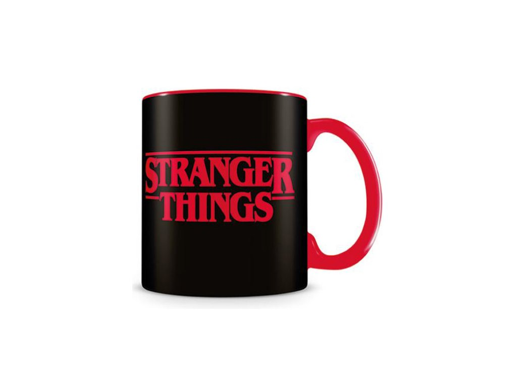 Černý keramický hrnek Stranger Things: Logo (objem 315 ml)