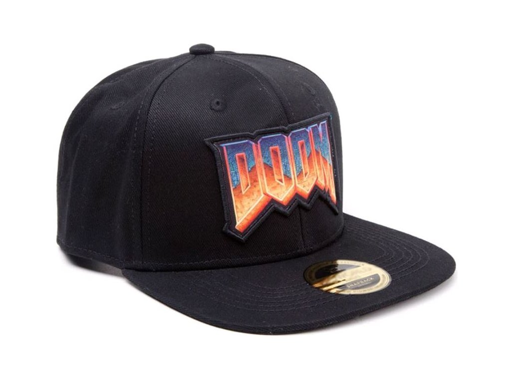 Kšiltovka Doom: Logo (nastavitelná) černá bavlna