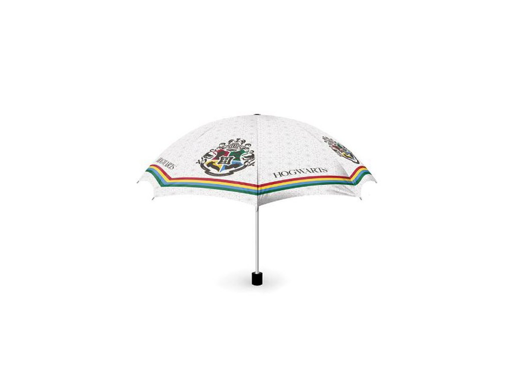 Deštník Harry Potter: Erb Bradavic - Hogwarts (průměr 50 cm|délka 24 cm) bílý