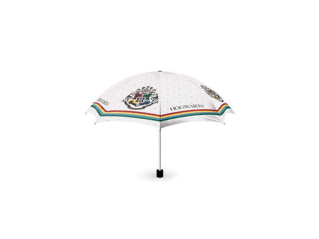 Deštník Harry Potter: Erb Bradavic - Hogwarts (průměr 50 cm délka 24 cm) bílý
