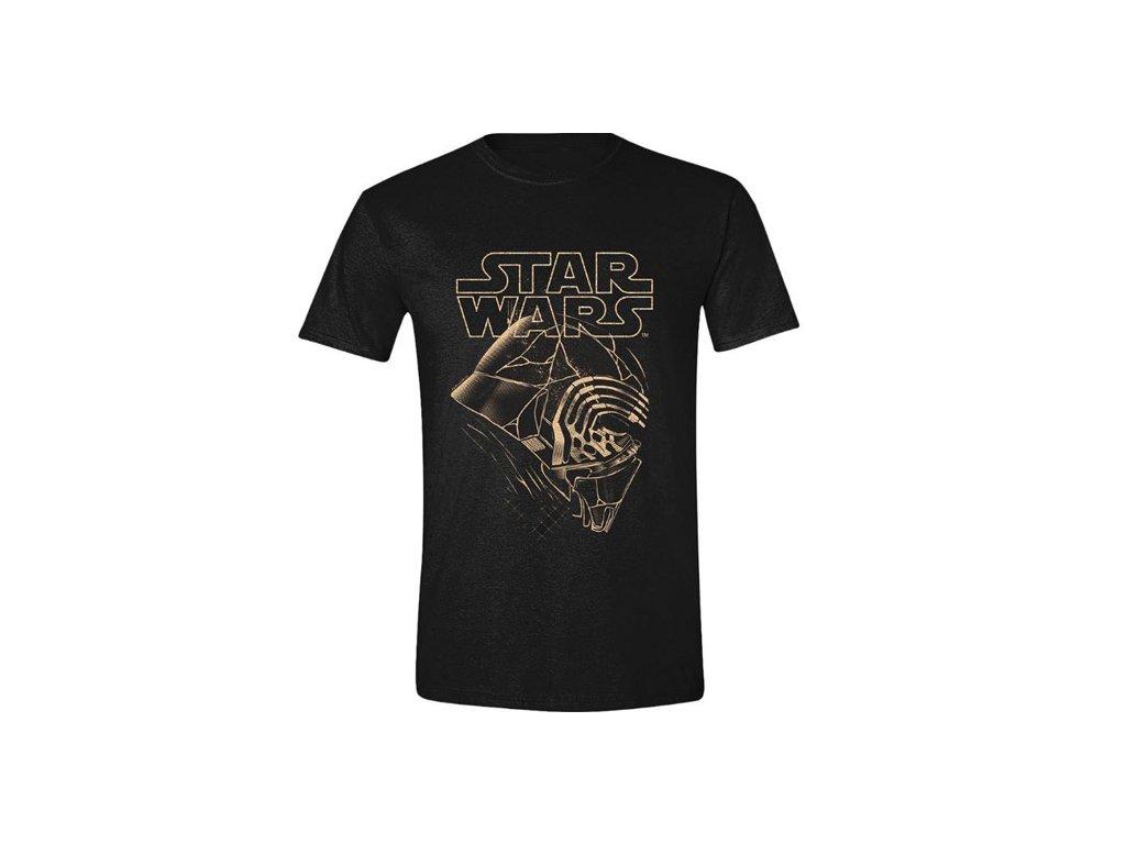 Pánské tričko Star Wars Hvězdné války IX: Kylo Ren Mask (XL) černé bavlna