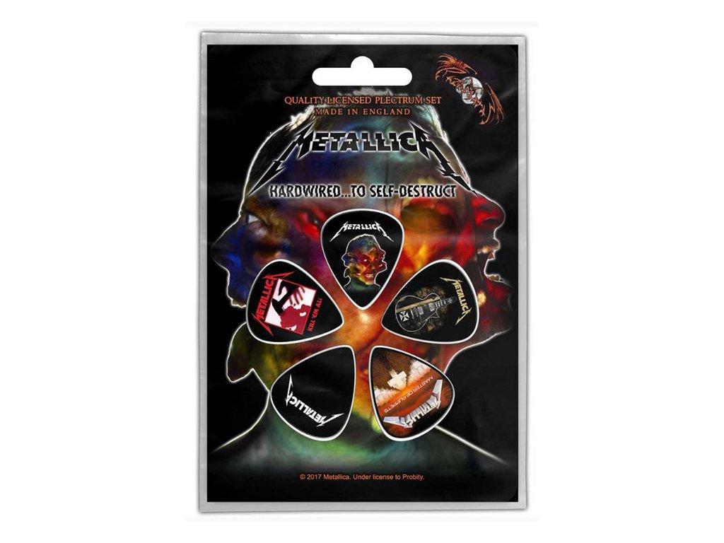 Kytarová trsátka Metallica: Hardwired To Self set 5 kusů