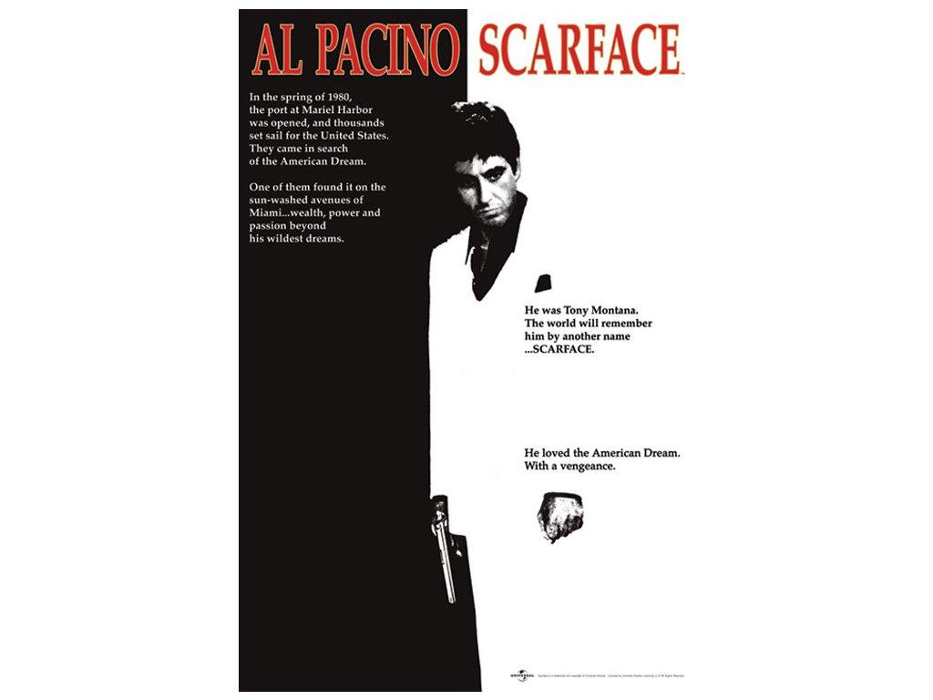 Plakát Al Pacino Scarface|Zjizvená tvář: One-Sheet (61 x 91,5 cm)