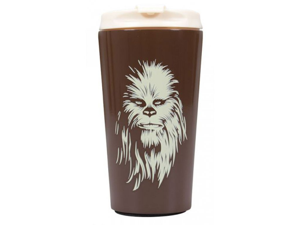 Nerezový cestovní hrnek Star Wars Hvězdné války: Chewbacca Upset A Wookie - Žvejkal (objem 300 ml)