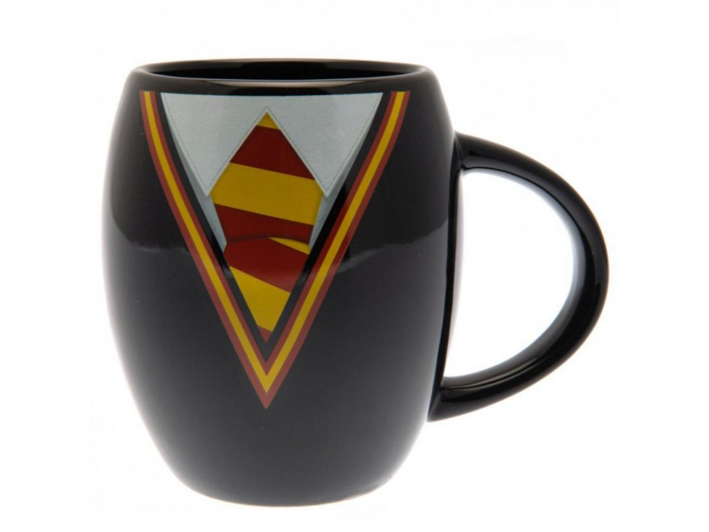 Černý keramický oválný hrnek Harry Potter: Gryffindor Uniform (objem 425 ml)