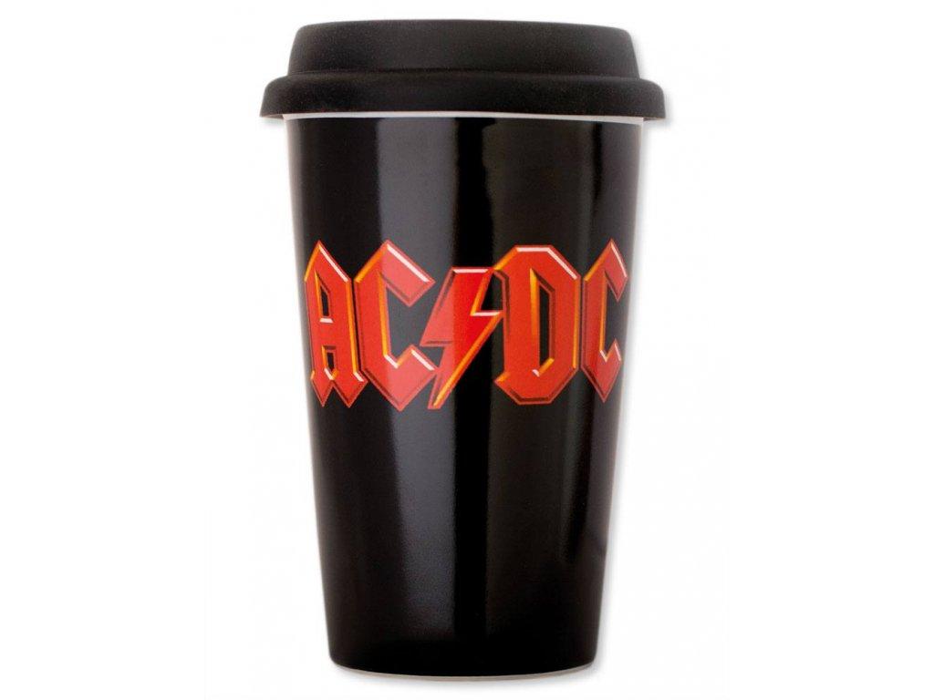 Keramický cestovní hrnek AC/DC: Logo (objem 300 ml)