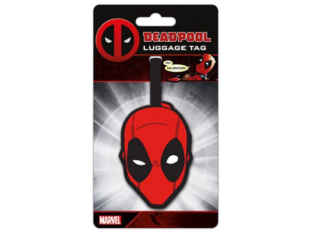 Visačka na zavazadlo Marvel|Deadpool: Head (10 x 18 cm)