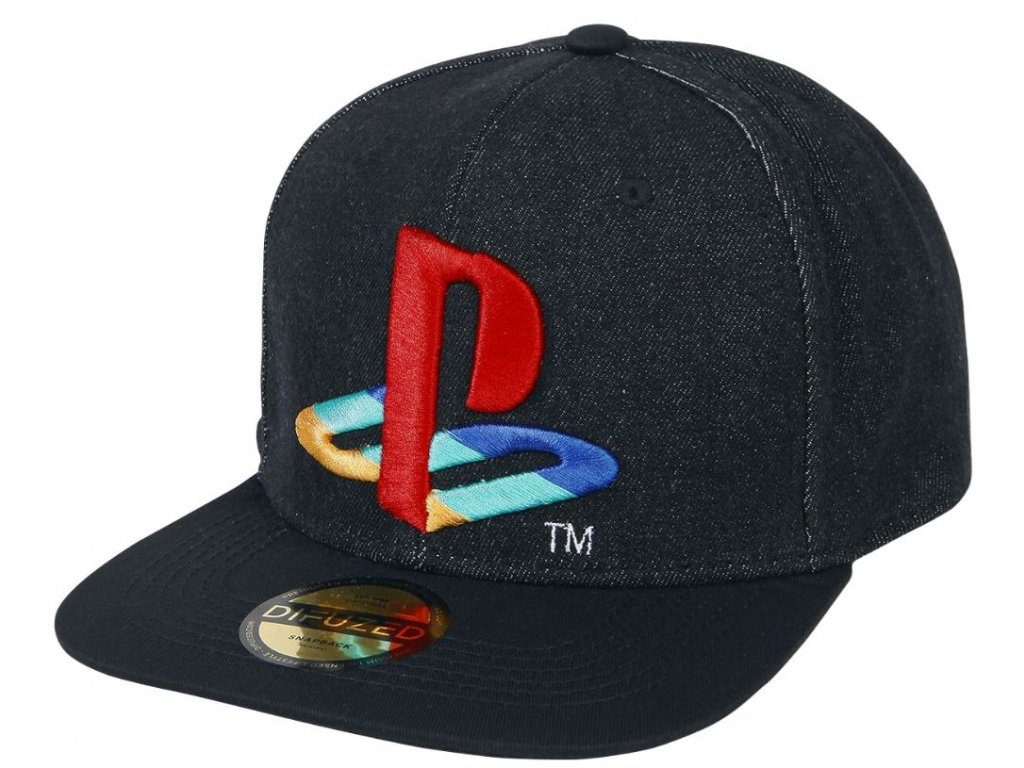 Kšiltovka Playstation: Logo Denim (nastavitelná)