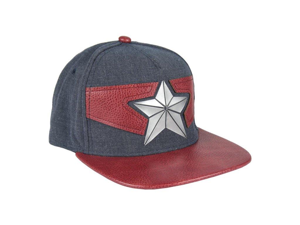 Snapback čepice - kšiltovka Marvel|Captain Marvel: Logo (obvod 57 cm| nastavitelná) bavlna, 58% polyester, 17% polyuretan)