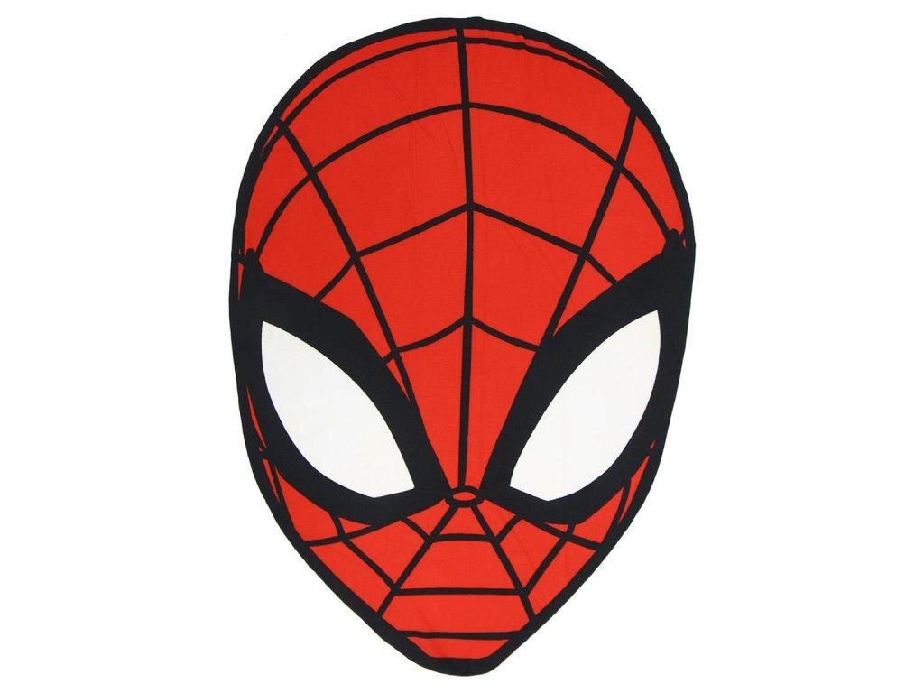 Ručník - 2D plážová osuška Marvel|Spiderman: Face (61 x 130 cm) polyester