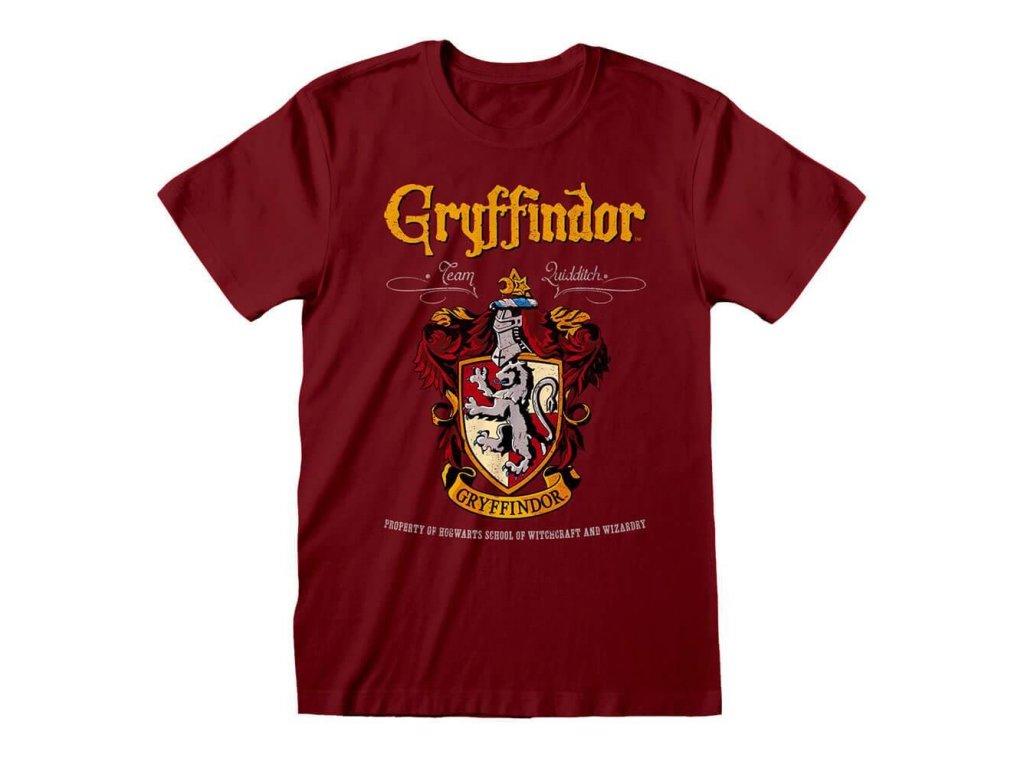 Pánské tričko Harry Potter: Gryffindor - Nebelvír znak (M) červené bavlna