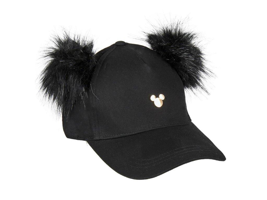 Kšiltovka Disney: Mickey Mouse s ušima (obvod 56 cm) černá