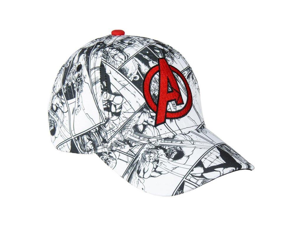 Kšiltovka Marvel: Avengers (obvod 53 cm) bílá