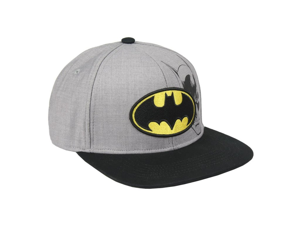 Čepice snapback - kšiltovka DC Comics|Batman: Logo (obvod 57-59 cm) šedá