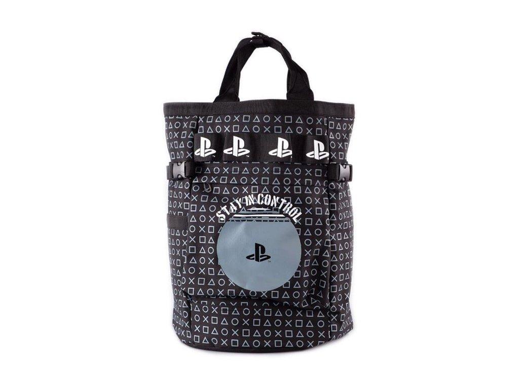 Městský batoh Playstation: AOP Backpack (objem 18 litrů|40 x 30 x 15 cm) černý polyester