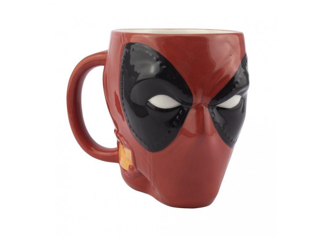 Keramický hrnek Deadpool: 3D Head (350 ml) červený