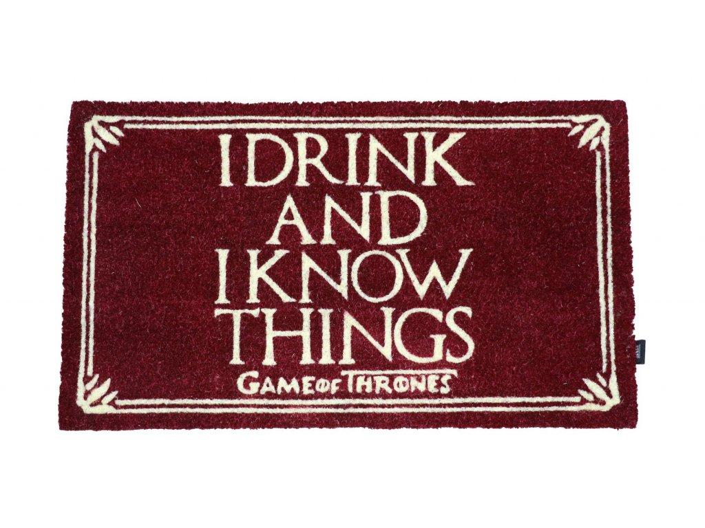 Rohožka Game Of Thrones|Hra o trůny: I Drink And I Know Things (72 x 43 cm)