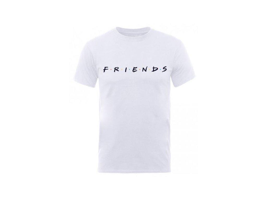 Pánské tričko Friends|Přátelé: Logo (L) bílé