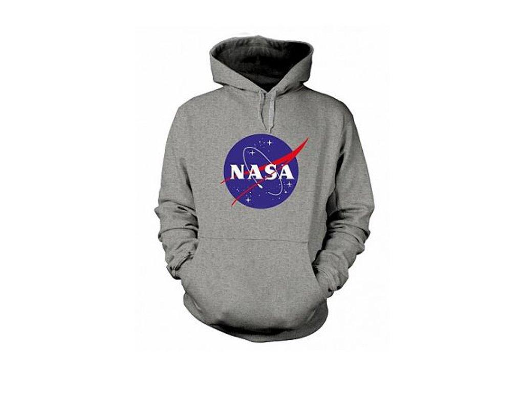 Pánská mikina NASA: Logo (M) šedá bavlna