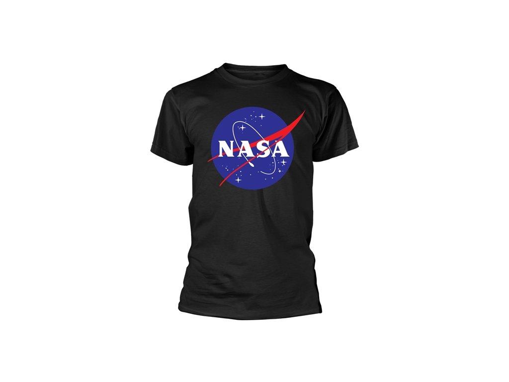Pánské tričko Nasa: Logo (L) černé bavlna