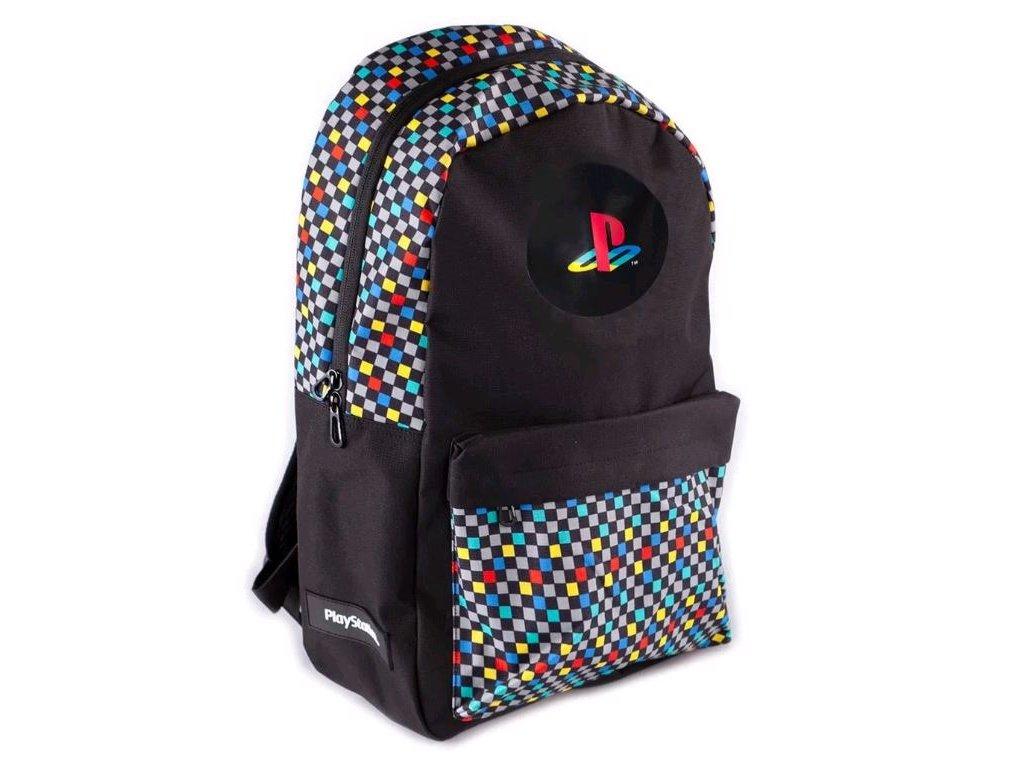 Batoh Playstation: Retro (objem 21 litrů, 44 x 30 x 16 cm) černá polyester