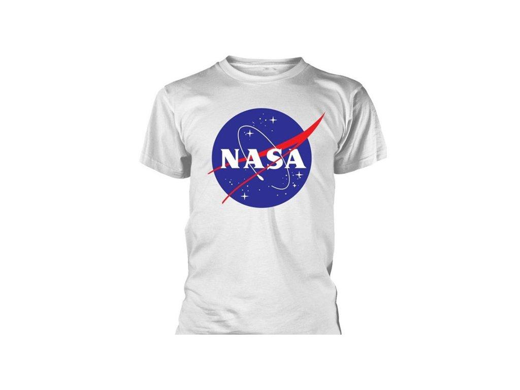 Pánské tričko NASA: Logo  bílé bavlna