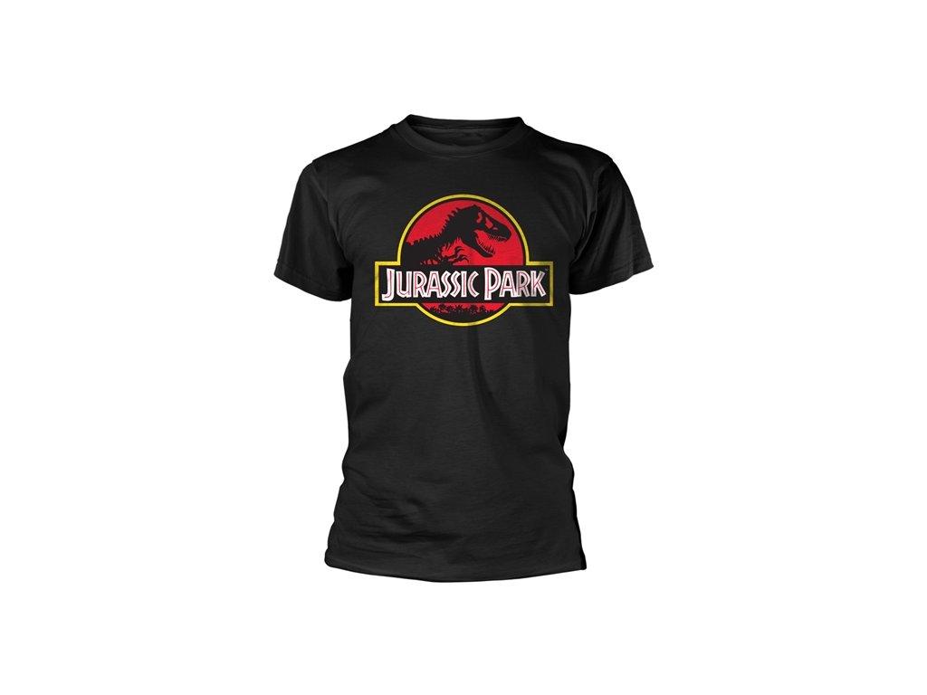Pánské tričko Jurassic Park|Jurský park: Classic Logo (XL) černá bavlna