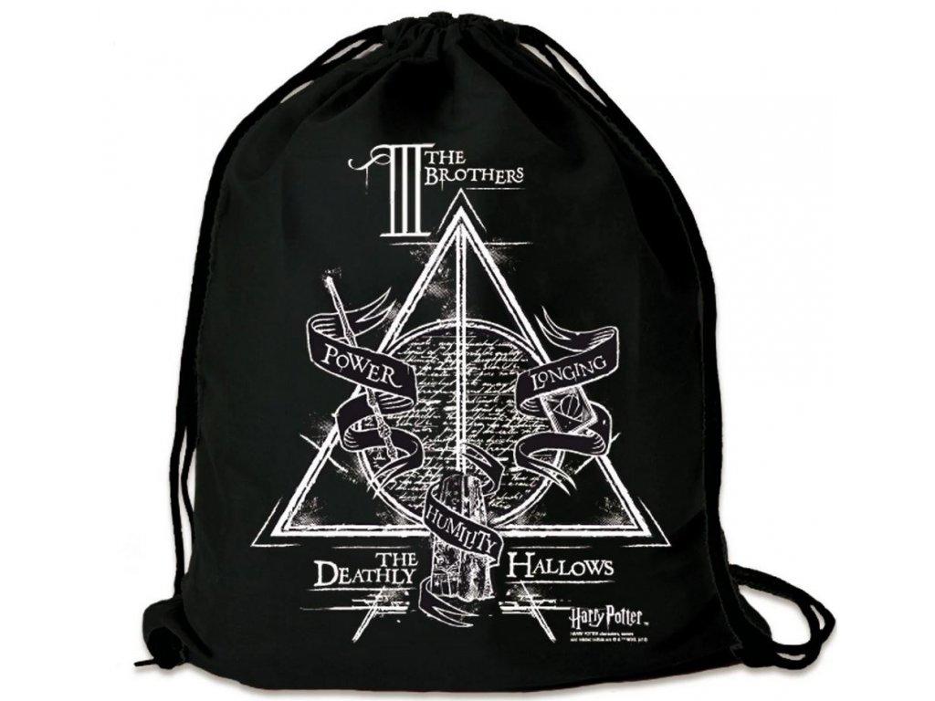 Bavlněný gym bag - vak se šňůrkami Harry Potter: The Three Brothers (35 x 44 cm) bavlna