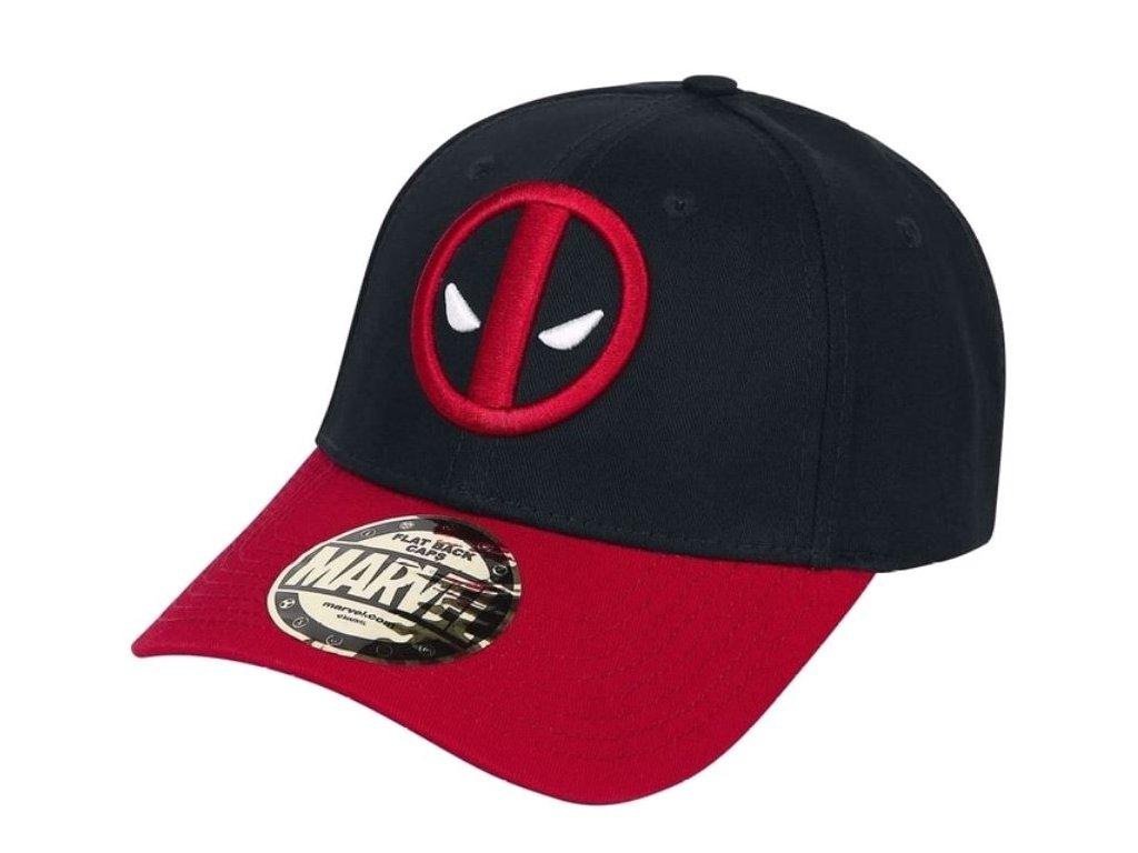 Kšiltovka Marvel|Deadpool: Logo (nastavitelná) černá