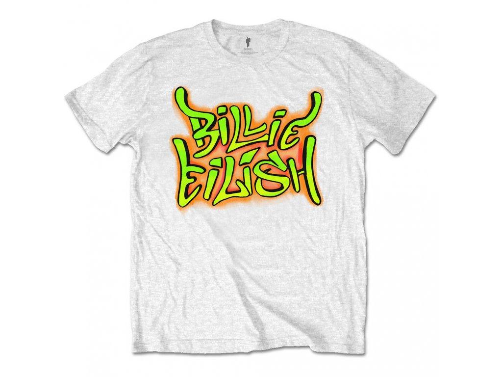 Dětské tričko Billie Eilish: Graffiti  bílé bavlna
