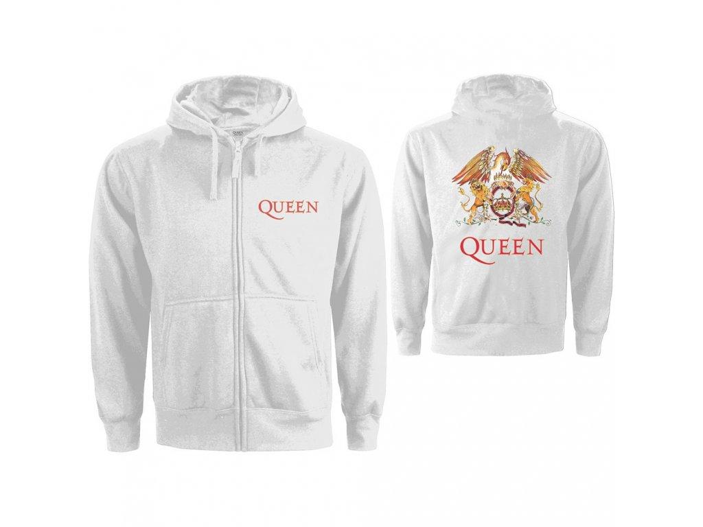 Dámská mikina Queen: Znak (2XL) bílá bavlna