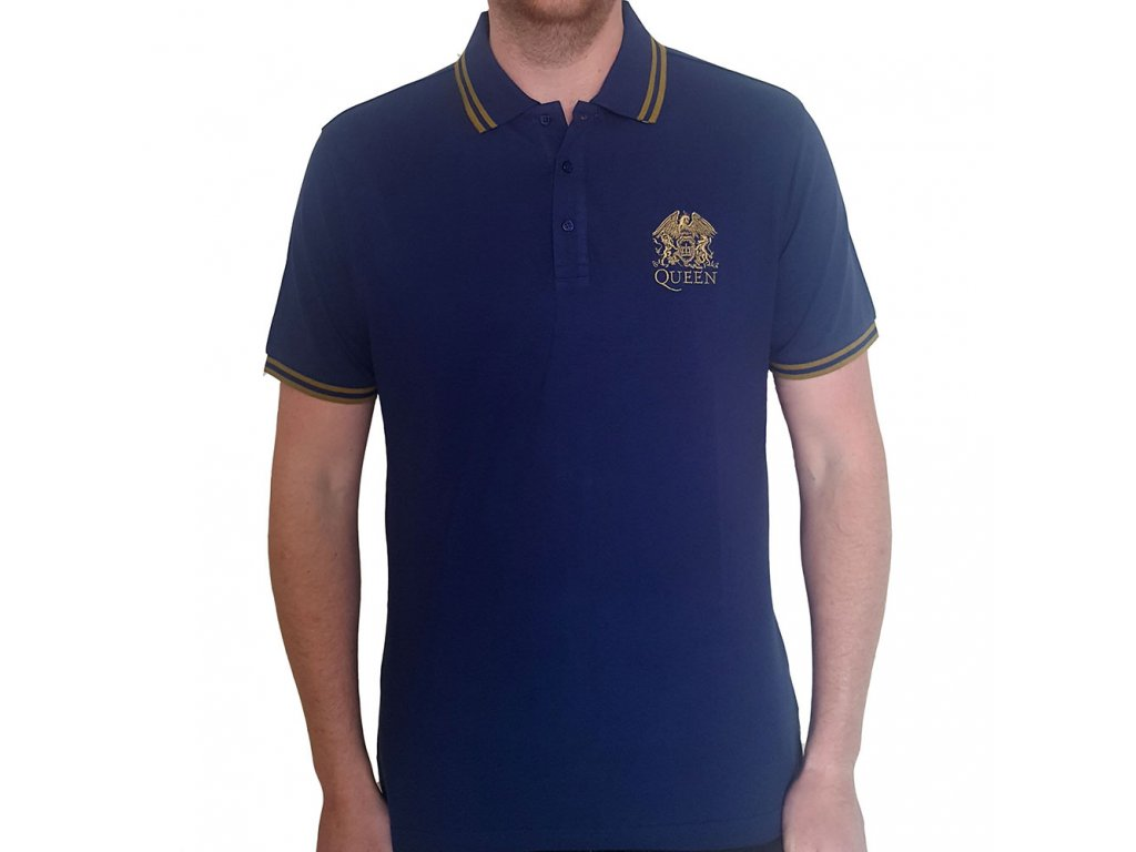 Pánská polo tričko Queen: Znak (M) modré bavlna