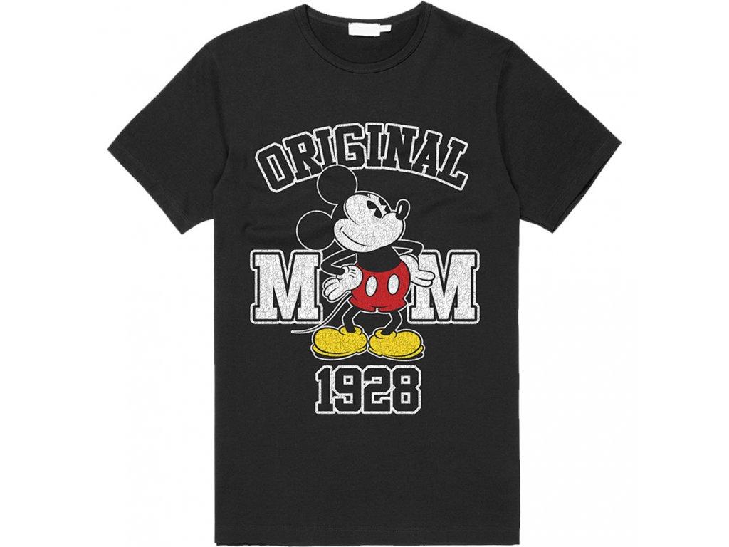 Pánské tričko Disney|Mickey Mouse: Original  černá bavlna