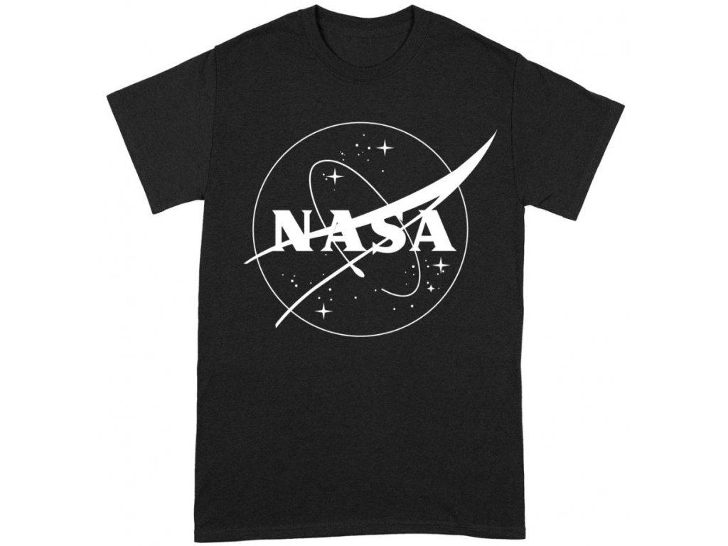 Pánské tričko Nasa: Insignia Logo BW (L) černé