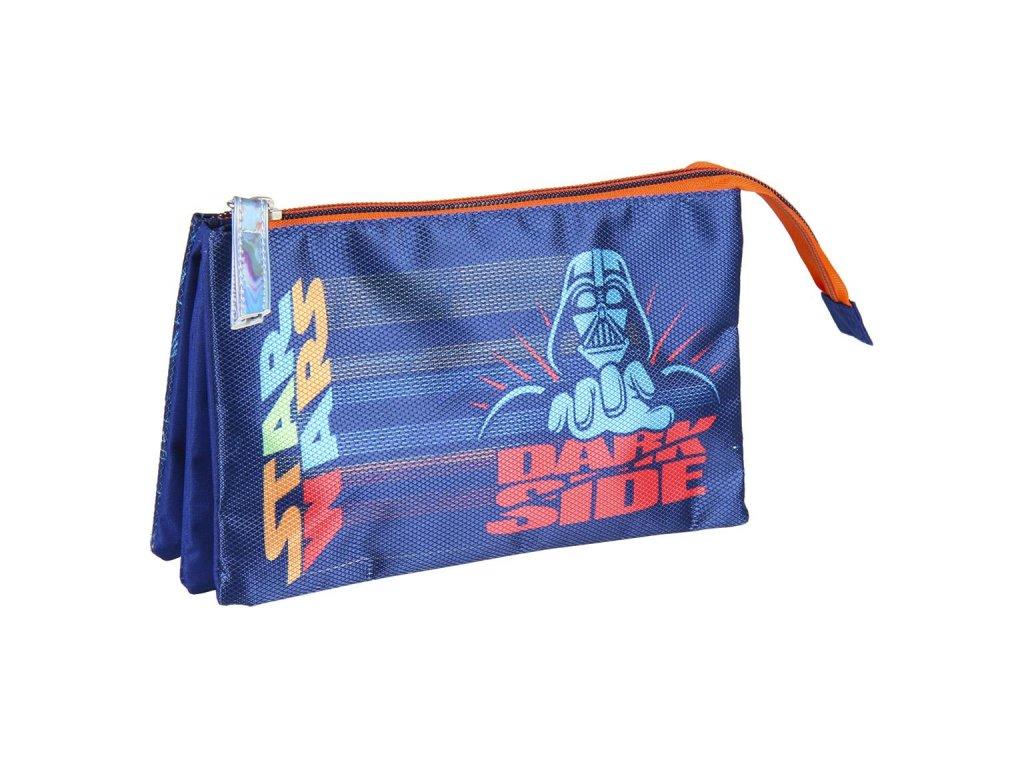 Trojitý penál na tužky Star Wars|Hvězdné války: 3 kapsy (23 x 13 x 3 cm) polyester