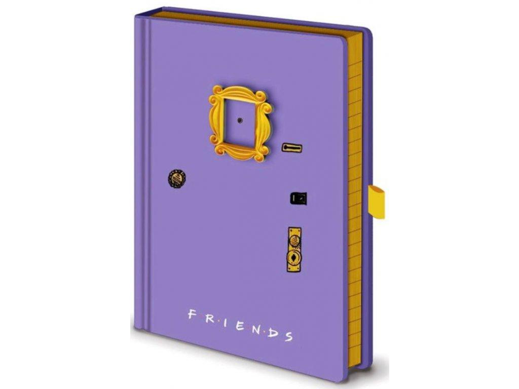 Poznámkový A5 blok Friends Přátelé: Kukátko - Frame (14,8 x 21 cm)