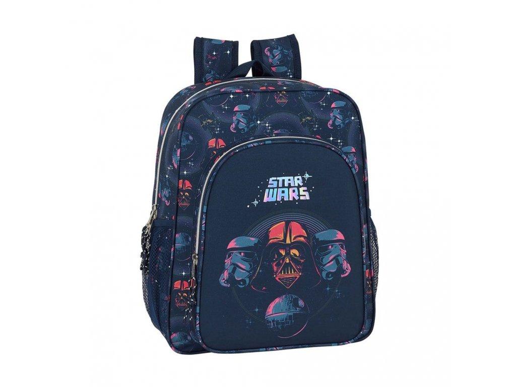 Dětský junior batoh Star Wars|Hvězdné Války: vzor 12001 (objem 14,5 litrů|32 x 38 x 12 cm) modrý polyester
