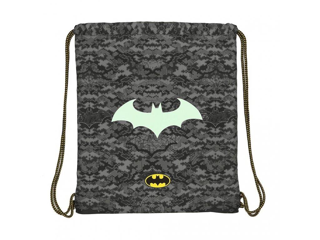 Batoh pytlík se šňůrkami gym bag DC Comics|Batman: vzor 12004 (35 x 40 cm) černý polyester