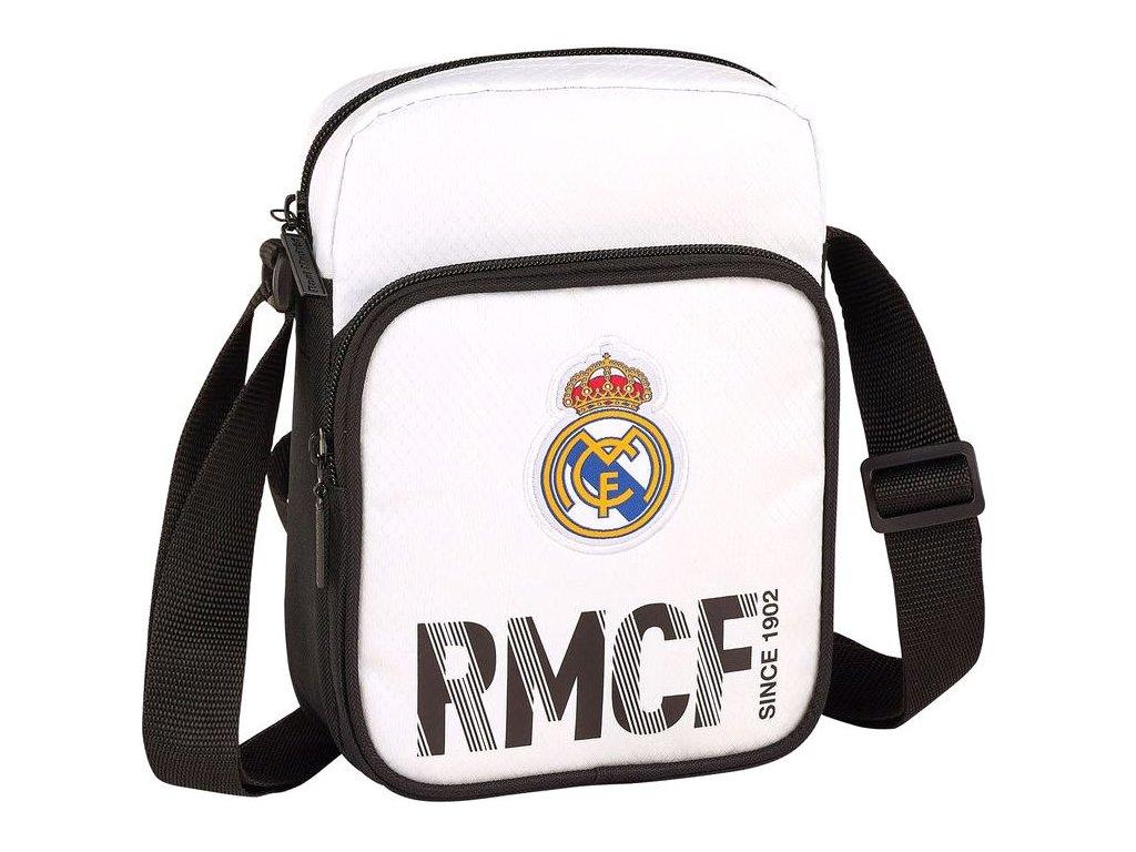 Malá taška na rameno FC Real Madrid: vzor 11854 (objem 2,1 litrů - 22 x 16 x 6 cm) polyester